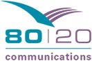 80:20 Communications branding and logo design