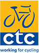 CTC (Cyclist Touring Club) branding and logo design