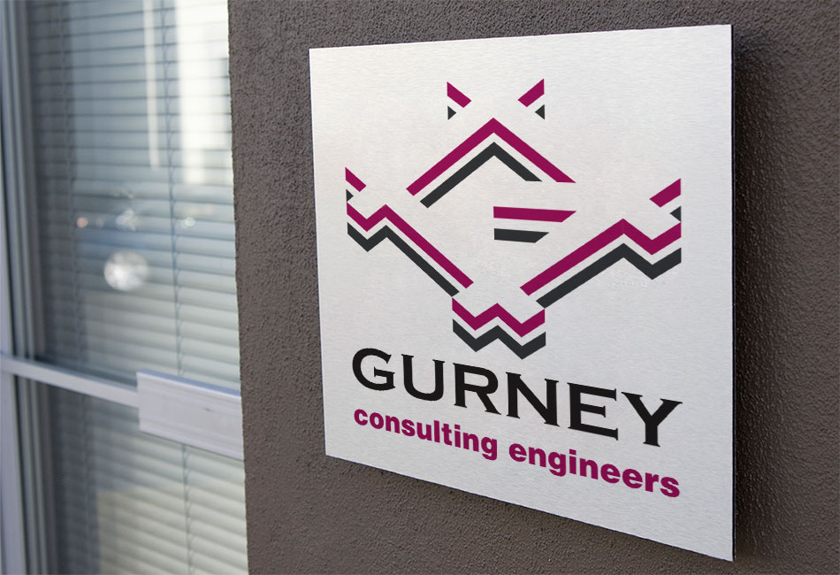 gurney Consulting Engineers brand and logo design