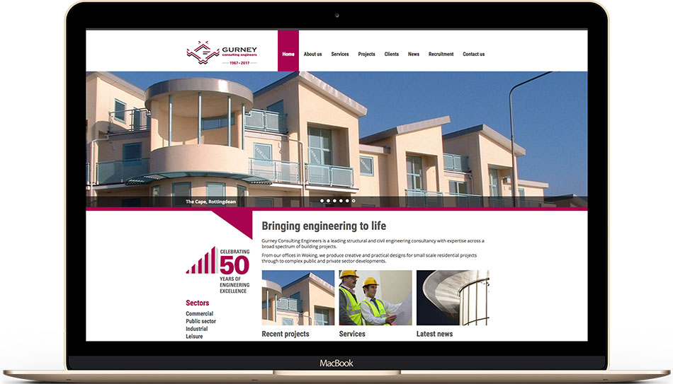 Gurney Consulting Engineers web design