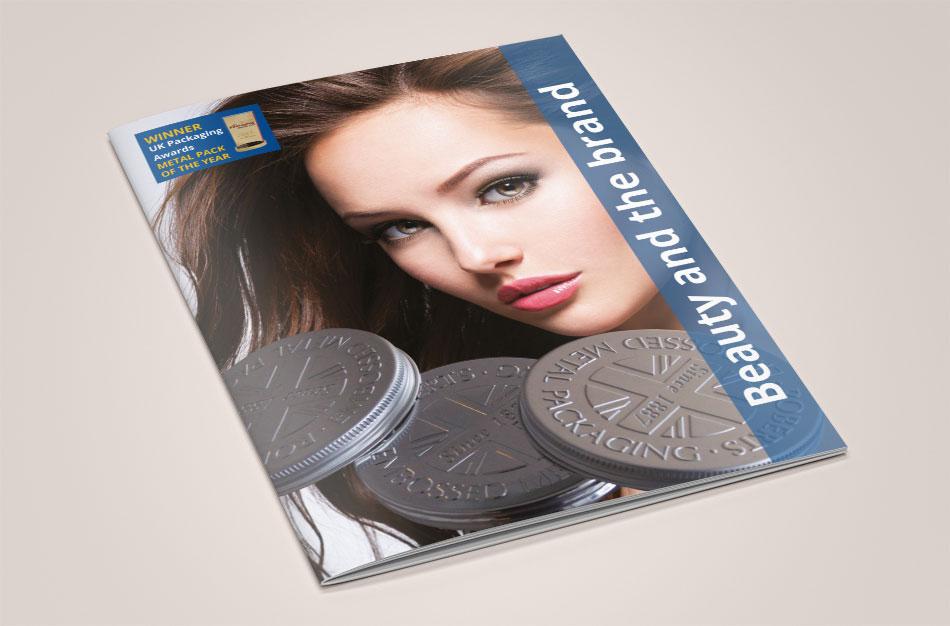 Roberts Metal Packaging brochure cover design