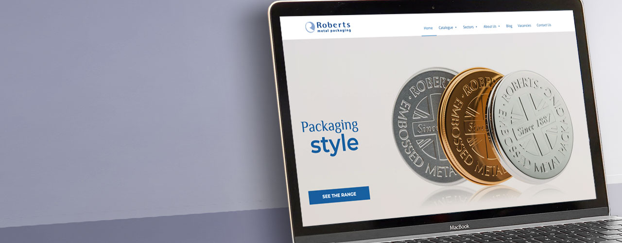 Roberts Metal Packaging portfolio banner