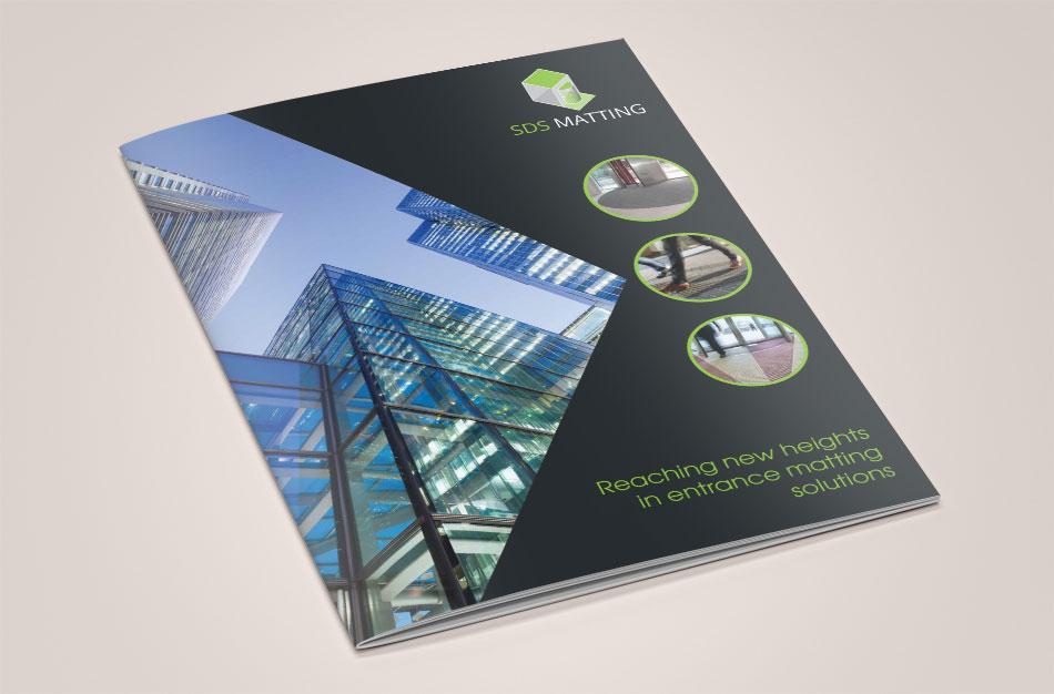 SDS Matting brochure cover design