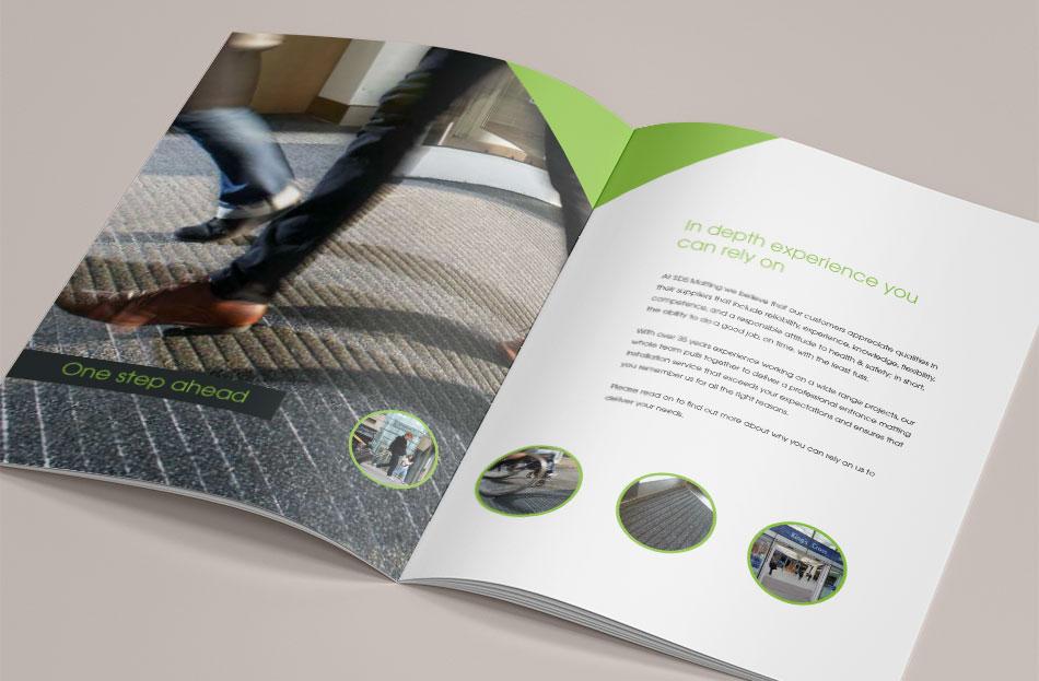 SDS Matting brochure design