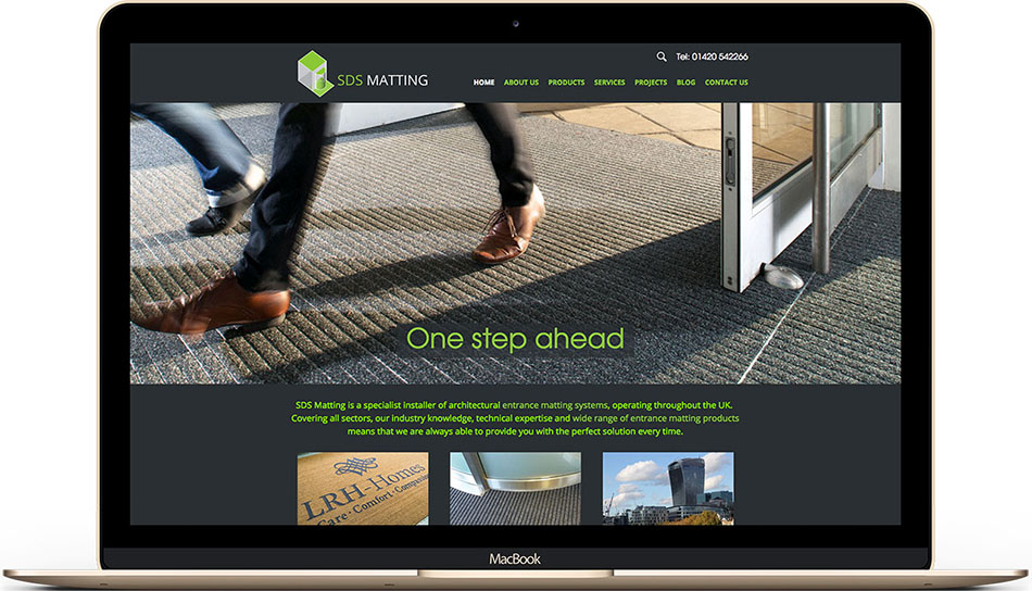 Entrance matting company SDS Matting web design