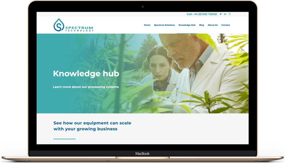 Spectrum Technology web design