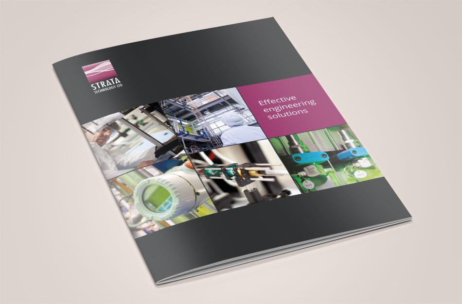 Strata Technology brochure cover design