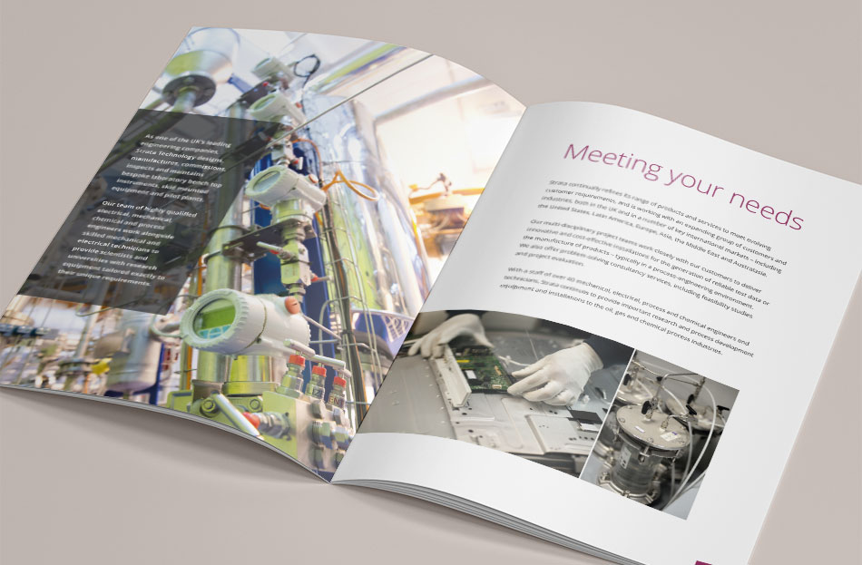 Strata Technology brochure design