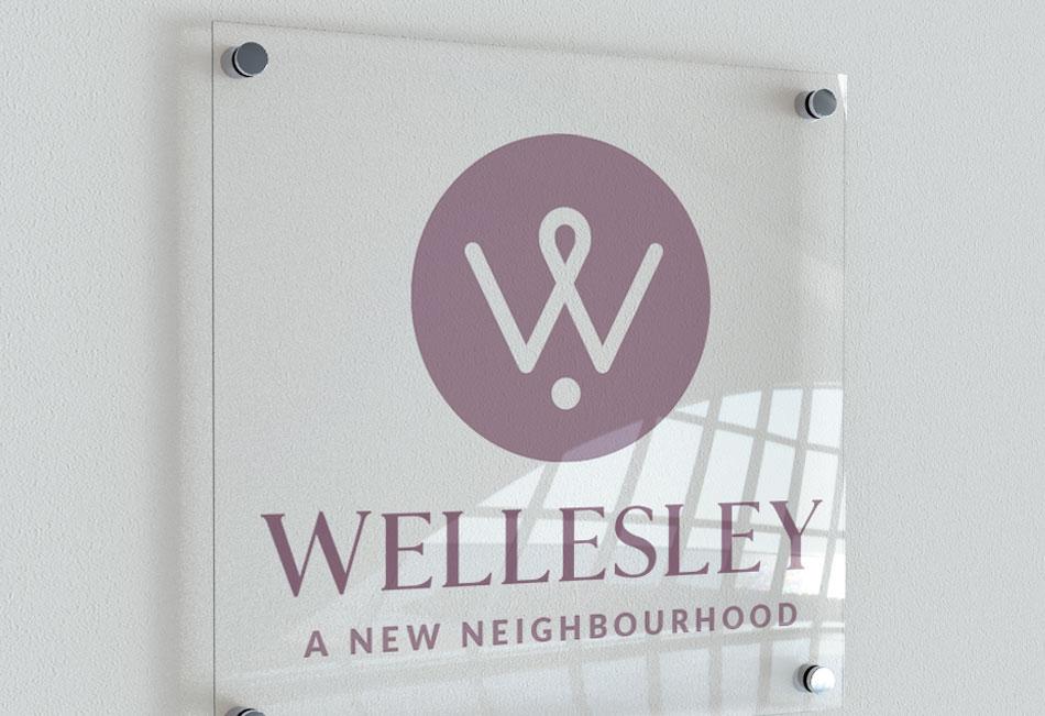 Wellesley logo design