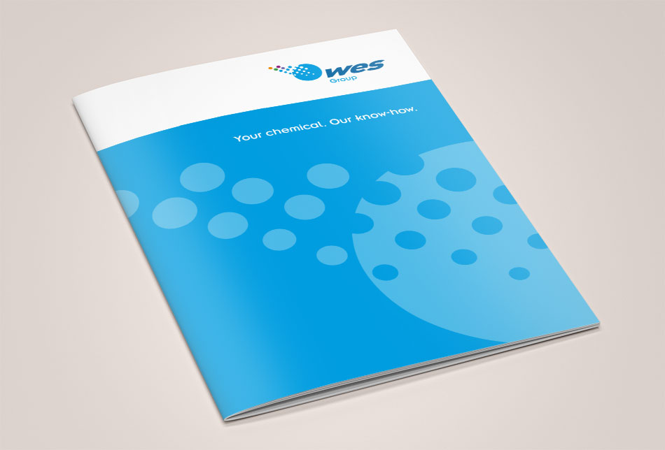 WES Group brochure cover design