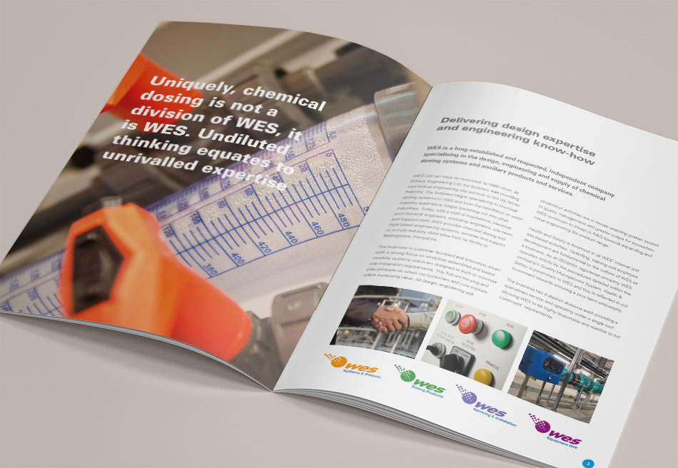 WES Group brochure design