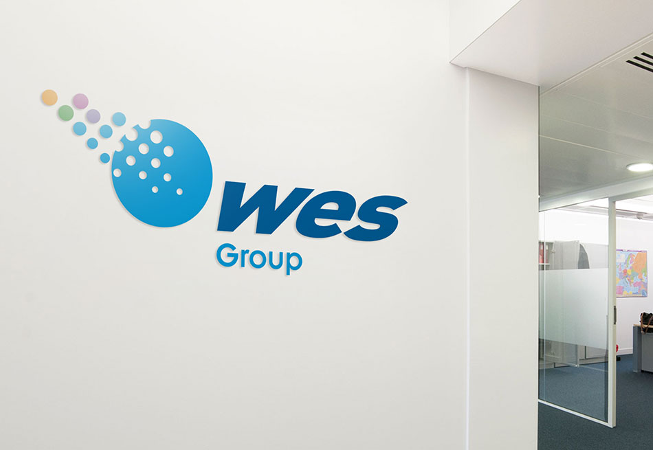 WES Group brand and logo design