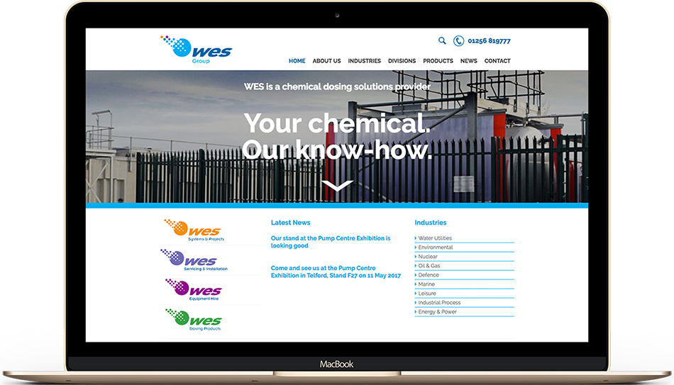 WES Group web design